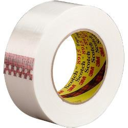 """3M® 8915 Strapping Tape, 1"""" x 60 Yd., Clear, Case Of 12"""