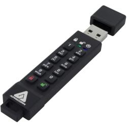 Apricorn 64GB Aegis Secure Key 3z USB 3.1 Flash Drive - 64 GB - USB 3.1 - 77 MB/s Read Speed - 72 MB/s Write Speed - 256-bit AES - 3 Year Warranty - TAA Compliant