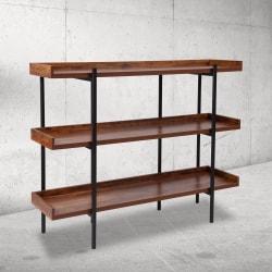 """Flash Furniture 35""""H 3-Shelf Bookcase, Rustic"""