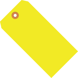 "Office Depot® Brand Fluorescent Shipping Tags, #5, 4 3/4"" x 2 3/8"", Yellow, Box Of 1,000"