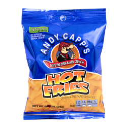 Andy Capp's Snack Fries, Hot, 0.85 Oz Bag, Box Of 72