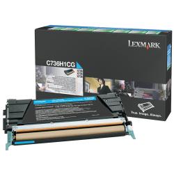 Lexmark™ C736H1CG High-Yield Cyan Toner Cartridge