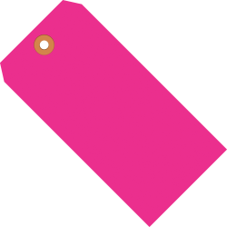 """Office Depot® Brand Fluorescent Shipping Tags, #6, 5 1/4"""" x 2 5/8"""", Pink, Box Of 1,000"""