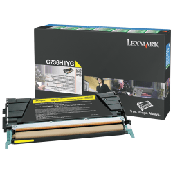 Lexmark™ C736H1YG High-Yield Yellow Return Toner Cartridge