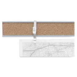 "Advantus Cork Map Rails, 1"" x 96"", Satin"