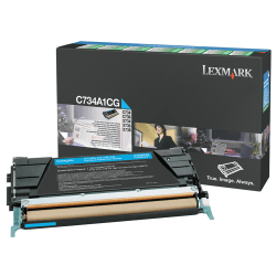 Lexmark™ C734A1CG Cyan Return Toner Cartridge