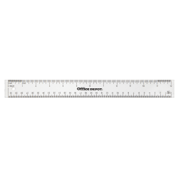 "Office Depot® Brand Acrylic Ruler, 12"", Clear"