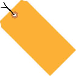 "Office Depot® Brand Fluorescent Prestrung Shipping Tags, #7, 5 3/4"" x 2 7/8"", Orange, Box Of 1,000"