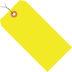 """Office Depot® Brand Fluorescent Prewired Shipping Tags, #6, 5 1/4"""" x 2 5/8"""", Yellow, Box Of 1,000"""