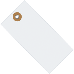 "Tyvek® Shipping Tags, #1, 2 3/4"" x 1 3/8"", White, Box Of 1,000"