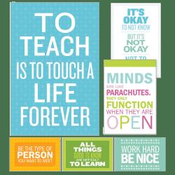Scholastic Teacher's Friend Inspirational Quotes Poster Set, Grades 3 - 6