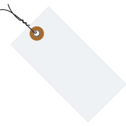 """Tyvek® Prewired Shipping Tags, #5, 4 3/4"""" x 2 3/8"""", White, Box Of 1,000"""