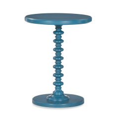"""Powell Jarsky Round Spindle Side Table, 22-1/4"""" x 17"""", Teal"""