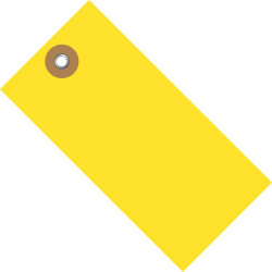 "Tyvek® Shipping Tags, #5, 4 3/4"" x 2 3/8"", Yellow, Box Of 100"