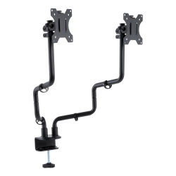 "Allsop® Dual-Monitor Arm, 24-1/2""H x 9""W x 4-3/8""D, Black"