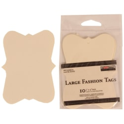 "JAM Paper® Gift Tags, 3"" x 4"", Ivory Fashion, Pack Of 10"