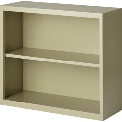 Lorell® Fortress Series Steel Bookcase, 2-Shelf, Putty