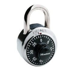Master Lock® Combination Padlock, Black/Chrome