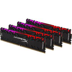 HyperX Predator RGB - DDR4 - 64 GB: 4 x 16 GB - DIMM 288-pin - 3200 MHz / PC4-25600 - CL16 - 1.35 V - unbuffered - non-ECC - black