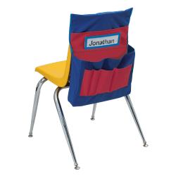 Pacon® Chair Storage Pocket Chart, Red/Blue, Grades Pre K-6