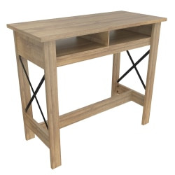 "Inval Multipurpose Pub/Home Office Table, 41-5/16""H x 47-1/4""W x 21-13/16""D, Amaretto"