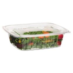 Eco-Products® Rectangular Deli Containers, 48 Oz, Clear, 50 Containers Per Pack, Case Of 4 Packs