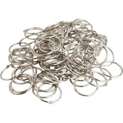 """Business Source Standard Book Rings - 3"""" Diameter - Silver - Nickel Plated - 50 / Bundle"""