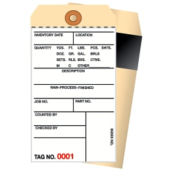 Manila Inventory Tags, 2-Part Carbon Style, 1500-1999, Box Of 500