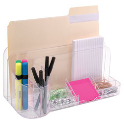 Innovative Storage Designs Desktop Organizer, 9 Compartments, Clear