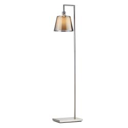 Adesso Prescott Floor Lamp 58 12 H Smoked Mercury Shadebrushed Steel Base Office Depot