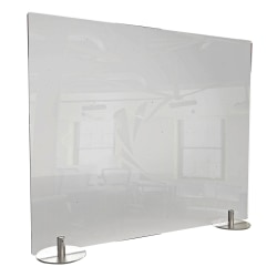 "Ghent Desktop Protection Screen, Freestanding, 24"" x 59"", Clear"