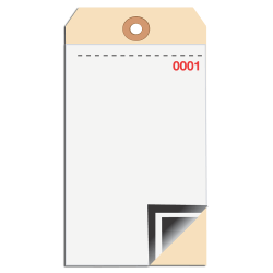 Manila Inventory Tags, Blank 3-Part With Carbon, 0-499, Box Of 500