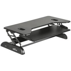 "VariDesk Cube Series Corner Standing Desk Converter, Cube Plus 40, 17-1/2""H x 40""W x 22-1/2""D, Black"