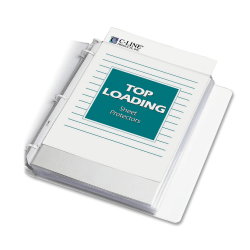 """C-Line® Polypropylene Top-Loading Sheet Protectors, 8 1/2"""" x 11"""", Economy Weight, Reduced Glare, Box Of 200"""