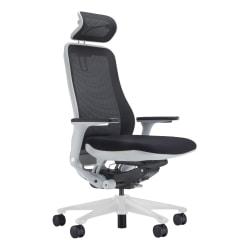 Koplus Symbian Mesh/Fabric High-Back Executive Chair, Midnight Black/White