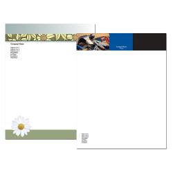 "Custom Full-Color Flat Print Stationery Letterhead, 8 1/2"" x 11"", Standard White, Box Of 250"
