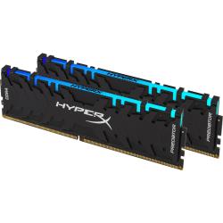 HyperX Predator 32GB DDR4 SDRAM Memory Module - 32 GB (2 x 16 GB) - DDR4-3200/PC4-25600 DDR4 SDRAM - CL16 - 1.35 V - Non-ECC - Unbuffered - 288-pin - DIMM