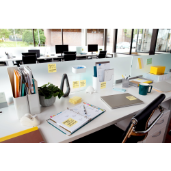 """Post-it® Super Sticky Notes, 3"""" x 5"""", Canary Yellow, Pack Of 12 Pads"""