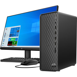 "HP Slim S01-aF0006b Desktop PC Bundle, 23.8"" Screen, AMD Ryzen 3, 8GB Memory, 256GB Solid State Drive, Windows® 10, 1K0C1AA#ABA"