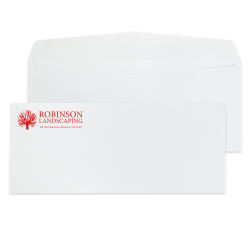 "Custom #10, 1-Color, Standard Business Envelopes, 4-1/8"" x 9-1/2"", White Wove, Box of 500"