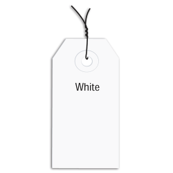 """Office Depot® Brand Prewired Color Shipping Tags, #4, 4 1/4"""" x 2 1/8"""", White, Box Of 1,000"""