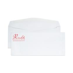 "Custom #9, 1-Color, Standard Business Envelopes, 3-7/8"" x 8-7/8"", White Wove, Box of 500"
