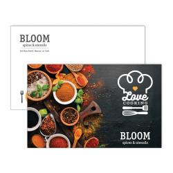 "Custom Full-Color Large Postcards, Printed 2-Sides, UV Gloss Finish 1 Side, 8"" x 5"", Box of 50"