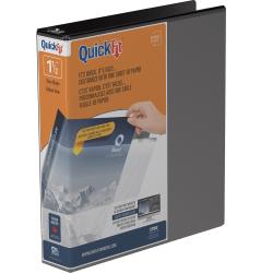 "Stride® QuickFit® View 3-Ring Binder, 1 1/2"" Round Rings, 275-Sheet Capacity, Black"