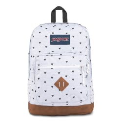 """JanSport® City View Remix Backpack With 15"""" Laptop Pocket, Tiny Hearts"""