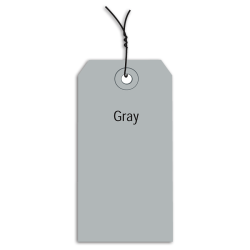 "Office Depot® Brand Prewired Color Shipping Tags, #8, 6 1/4"" x 3 1/8"", Gray, Box Of 1,000"