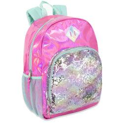 Trailmaker Sequin Hologram Backpack, Pink/Green