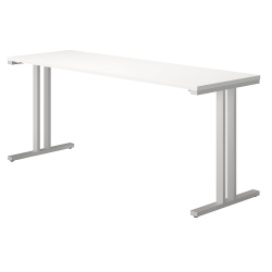 """Bush Business Furniture 400 Series Training Table, 72""""W x 24""""D, White, Standard Delivery"""