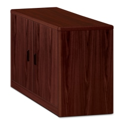 HON® 10700 Series™ Laminate Locking Storage Cabinet, Mahogany