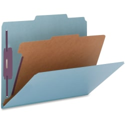 """Nature Saver Color Classification Folders, 2/5"""" Tab Cut, Right Tab Position, Legal Size , Blue, Box Of 10"""